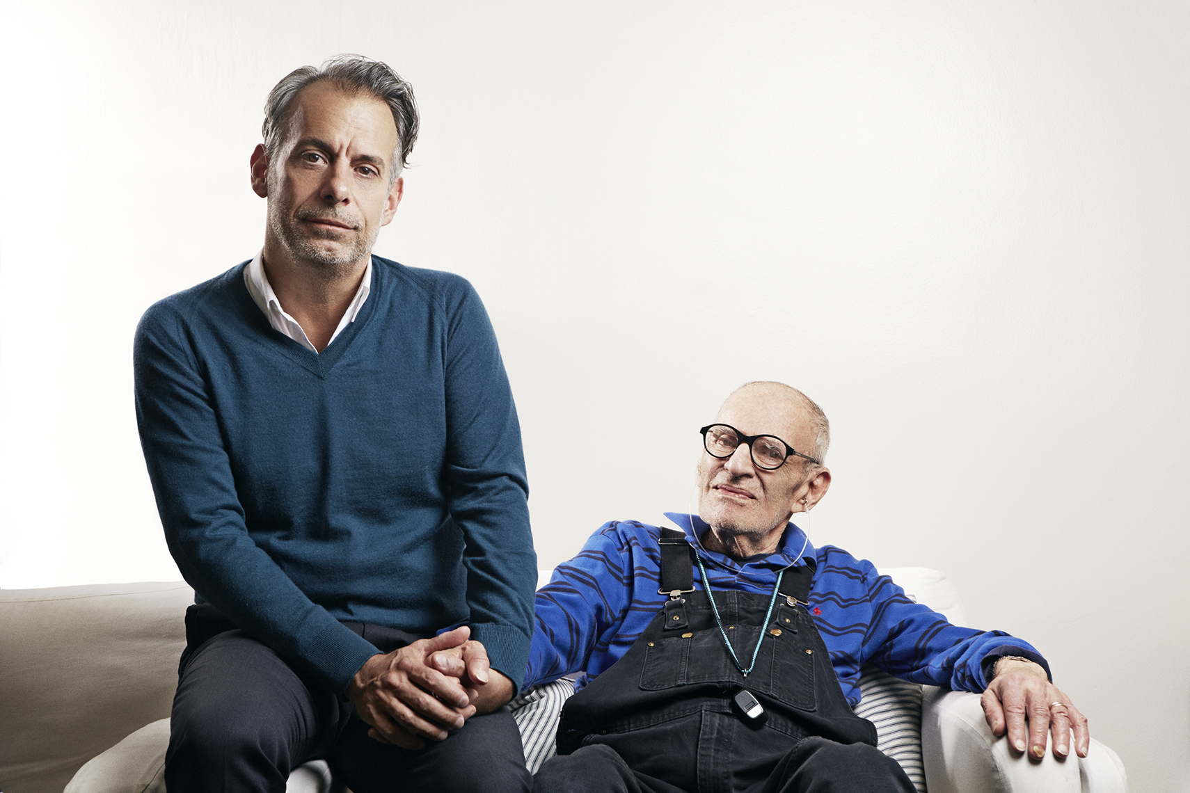 Joe Mantello and Larry Kramer for Playbill